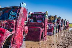 Historic Cadillac Ranch Royalty Free Stock Images