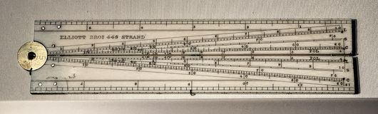 Historic Calculating Instrument Called a Sector. An eighteenth-century sector, also known as a proportional compass or military compass. It was a major Royalty Free Stock Image
