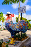Historic Calle Ocho. Miami, FL USA - December 18, 2016: Colorful artwork on display along the popular Calle Ocho in historic Little Havana royalty free stock photo