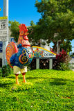 Historic Calle Ocho. Miami, FL USA - December 18, 2016: Colorful artwork and signage on display at the entrance to the popular Calle Ocho in historic Little stock images