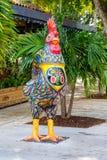 Historic Calle Ocho. Miami, FL USA - January 11, 2017: Colorful artwork on display along the popular Calle Ocho in historic Little Havana stock image
