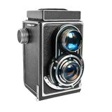 Historic camera. With two object lens royalty free stock images