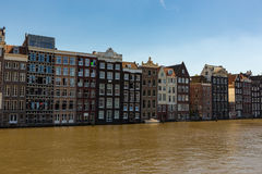 Historic canal houses in Amsterdam. Royalty Free Stock Image