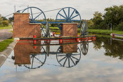 Historic canal near Elblag. Jelenie ramp. Stock Images
