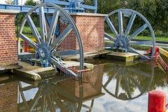 Historic canal near Elblag. Jelenie ramp. Stock Photos