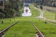 Historic canal near Elblag. Jelenie ramp. Royalty Free Stock Photo