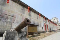 Historic cannon at Crane Lake Walled Village Royalty Free Stock Image