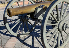 Historic Cannon on display in city, Denver Colorado Royalty Free Stock Photo
