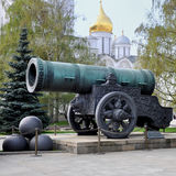 Historic cannon  at the Kremlin Stock Images