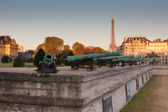 Historic cannon in Les Invalides museum in Paris Royalty Free Stock Image