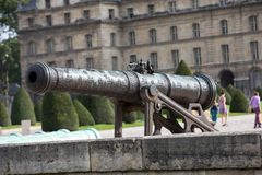 Historic cannon in Les Invalides museum in Paris Royalty Free Stock Images