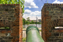 Historic cannon in Magdeburg, Germany Royalty Free Stock Image