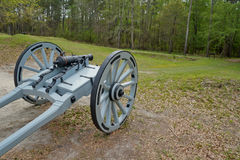 Historic cannon in National Battlefield Royalty Free Stock Photography