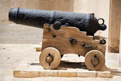 Historic cannon Oman Stock Image