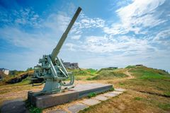 Historic cannon at Suomenlinna, Sveaborg maritime Royalty Free Stock Image