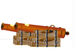 Historic cannon from the 17th century Royalty Free Stock Images