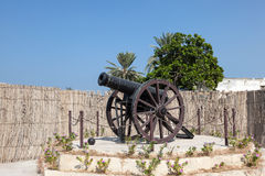 Historic Cannon in Umm Al Quwain. United Arab Emirates royalty free stock image