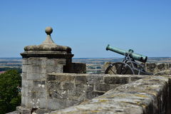 Historic cannon on the VESTE COBURG castle in Coburg, Germany Royalty Free Stock Photo