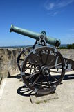 Historic cannon on the VESTE COBURG castle in Coburg, Germany Royalty Free Stock Photos