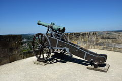 Historic cannon on the VESTE COBURG castle in Coburg, Germany Stock Image