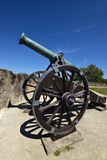 Historic cannon on the VESTE COBURG castle in Coburg, Germany Stock Images