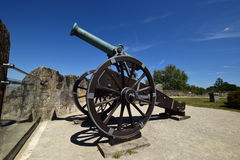 Historic cannon on the VESTE COBURG castle in Coburg, Germany Stock Photos