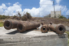 Historic cannons Royalty Free Stock Images