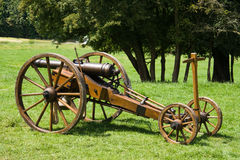 Historic canon on cart Stock Image
