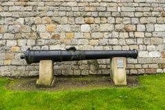 Canon. Historic canon inside the Windsor castle in United Kingdom stock photo