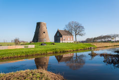 Historic capless windmill in the Netherlands Stock Image