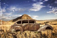 Historic car bullet holes Stock Photography