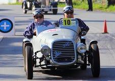 Historic car Weber 500b sport. Historic car Weber 500b sport  the reenactment of the hillclimb Pontedecimo-Giovi Royalty Free Stock Image