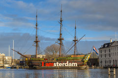 Historic cargo ship the Amsterdam Stock Images