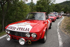 Historic cars Lancia Fulvia HF Royalty Free Stock Image