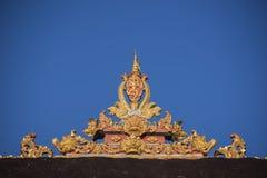 Historic carving at Pura Ulun Danu Bratan Water Temple Bali, Indonesia. Stock Photos