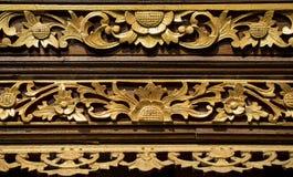 Historic carving at Pura Ulun Danu Bratan Water Temple Bali, Indonesia. Stock Image