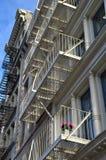 Historic cast iron buildings in New York City's Soho District. New York City, USA Stock Photo
