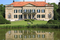 Historic Castle冯Korff在西华里亚,德国 库存照片