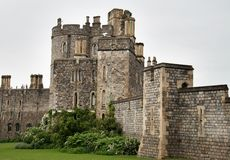 Historic Castle. Medieval and Historic Windsor Castle and fortifications in England Stock Images