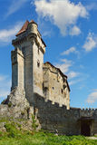 Historic castle on blue sky background. Liechtenstein, Lower Aus Stock Photography