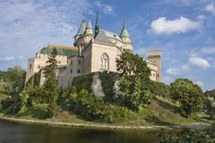 Historic castle Bojnice in the Slovak Republic. royalty free stock photography