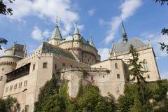 Historic castle Bojnice in the Slovak Republic. stock image