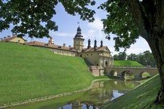 Historic castle. And bridge in Nesvizh stock photography