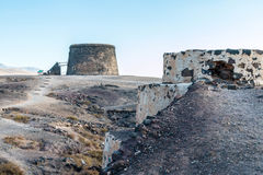 Historic castle. The historic castle in Cotillo in the Canary Islands Royalty Free Stock Photo