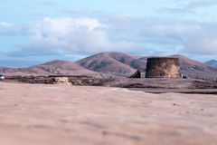 Historic castle. The historic castle in Cotillo in the Canary Islands Royalty Free Stock Images