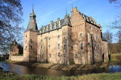 The historic Castle Doorwerth, The Netherlands stock photos