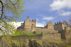Historic Castle in Edinburgh. Medieval Castle in Edinburgh, Scotland Stock Photos