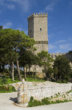 The historic castle of Erice in Sicily Royalty Free Stock Images