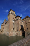 Historic castle in Ferrara, Italy Royalty Free Stock Photo
