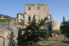 Fiumefreddo castle calabria. The historic castle of fiumefreddo del bruzio in south italy royalty free stock photography